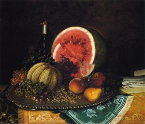 William Mason Brown - Still Life with Watermelon