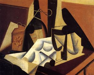 Juan Gris - Still Life with White Tablecloth