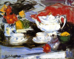 Francis Campbell Boileau Cadell - Still LIfe with White Teapot