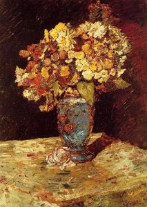 Adolphe Joseph Thomas Monticelli - Still Life with Wild and Garden Flowers
