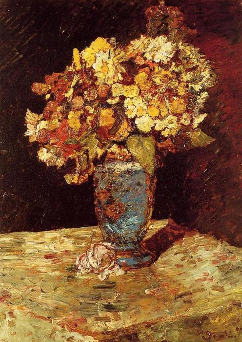 Still Life with Wild and Garden Flowers, 1877 by Adolphe Joseph Thomas Monticelli (1824-1886, France) | Museum Quality Reproductions | WahooArt.com