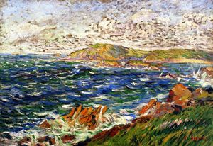 Paul Signac - Still Northwest Breeze, Saint-Briac