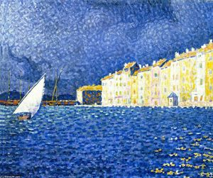 Paul Signac - The Storm, Saint-Tropez