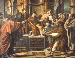 Raphael (Raffaello Sanzio Da Urbino) - St Paul before the Proconsul