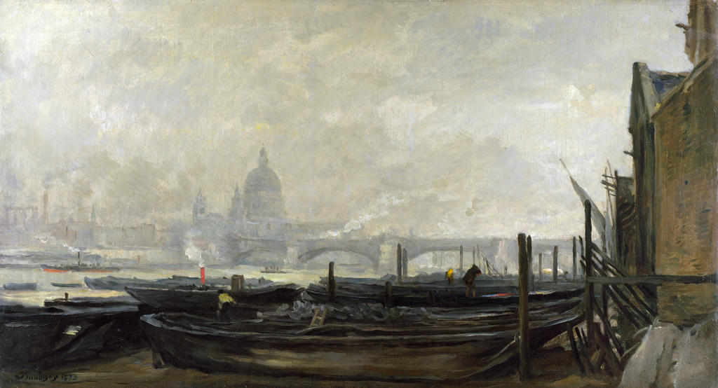 St Paul's from the Surrey Side, 1871 by Charles François Daubigny (1817-1878, France)