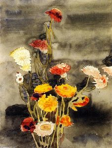 Charles Demuth - Strawflowers (also known as Flowers #2)