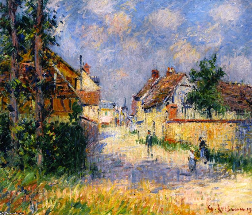 Street in Saint-Cyr-du-Vaudreuil, 1924 by Gustave Loiseau (1865-1935, France) | Oil Painting | WahooArt.com