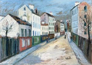 Maurice Utrillo - A Street in a Suburb of Paris