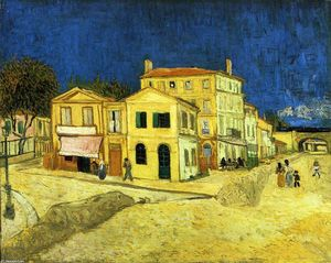 Vincent Van Gogh - The Street, the Yellow House - (paintings reproductions)