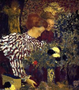 Jean Edouard Vuillard - The Striped Blouse