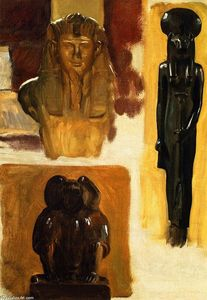 John Singer Sargent - Studies of Egyptian Sculpture