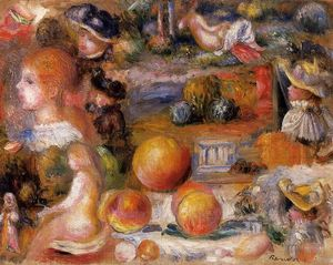 Pierre-Auguste Renoir - Studies: Woman-s Heads, Nudes, Landscapes and Peaches