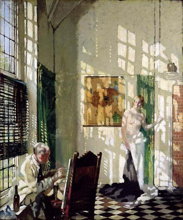 The Studio by William Newenham Montague Orpen (1878-1931, Ireland) | Famous Paintings Reproductions | WahooArt.com