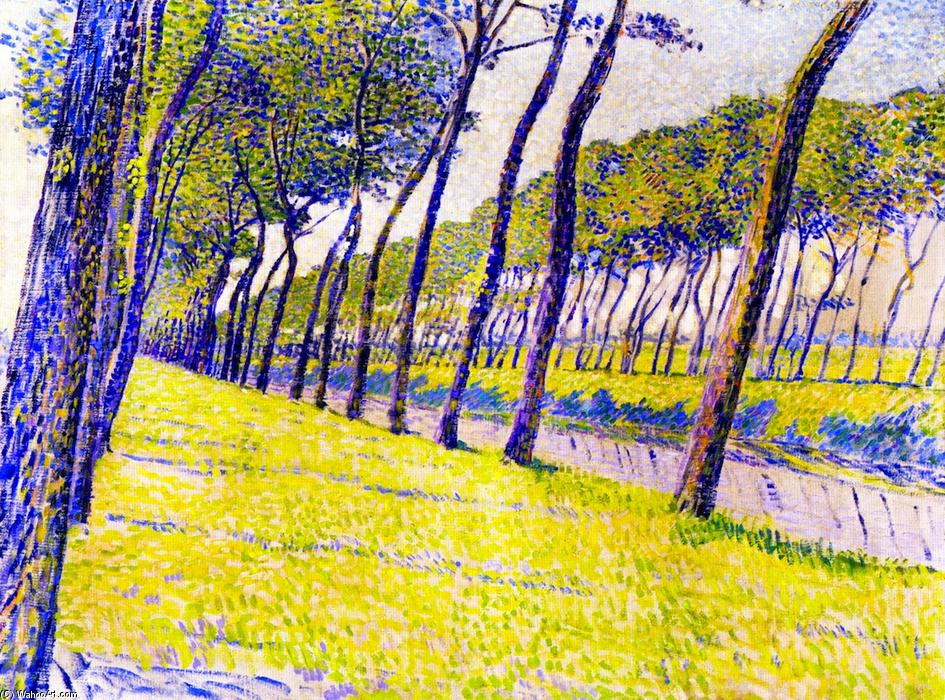 Study for 'Canal in Flanders', Oil On Canvas by Theo Van Rysselberghe (1862-1926, Belgium)