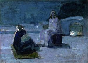 Henry Ossawa Tanner - Study for Christ and Nicodemus on a Rooftop