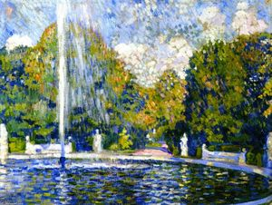 Theo Van Rysselberghe - Study for 'Fountain'