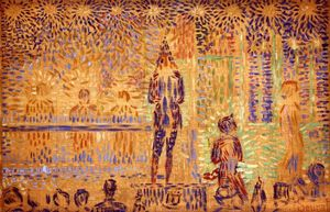 Georges Pierre Seurat - Study for -Invitation to the Sideshow-