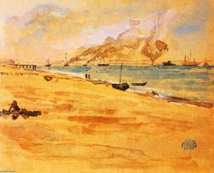 James Abbott Mcneill Whistler - Study for Mouth of the River----