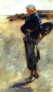 John Singer Sargent - Study for -Oyster Gatherers at Cancale-