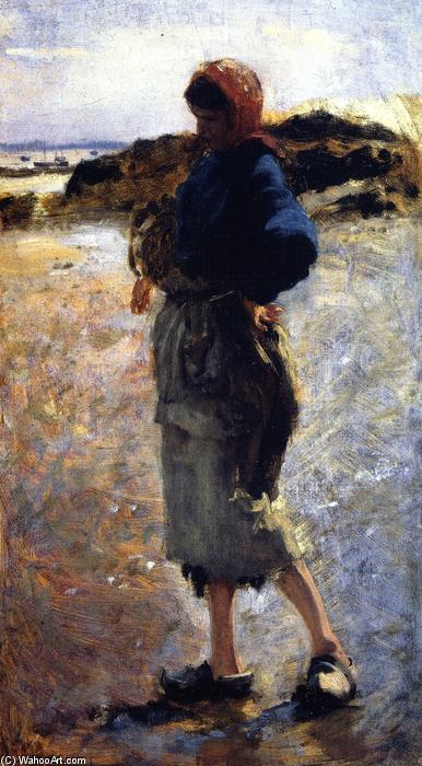 Study for `Oyster Gatherers at Cancale`, 1877 by John Singer Sargent (1856-1925, Italy) | Art Reproductions John Singer Sargent | WahooArt.com
