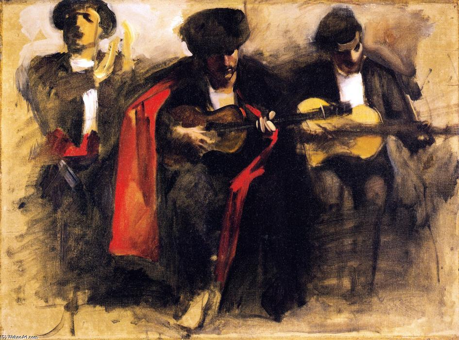 Study for Seated Musicians `El Jaleo`, 1880 by John Singer Sargent (1856-1925, Italy) | Museum Quality Reproductions | WahooArt.com