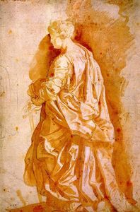 Peter Paul Rubens - Study for a Standing Female Saint