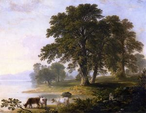 Asher Brown Durand - Study for Summer Afternoon (also known as Summer Afternoon)