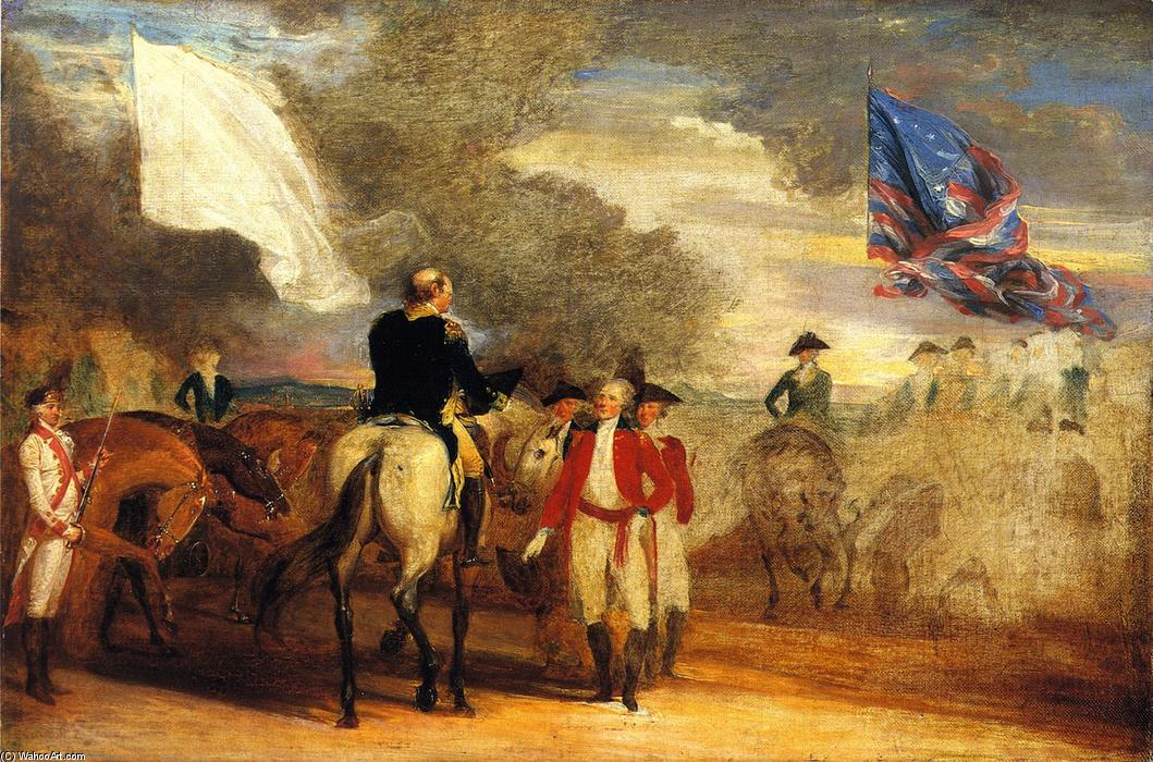 Study for Surrender of Cornwallis at Yorktown, Oil On Canvas by John Trumbull (1756-1843, United Kingdom)