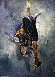 Charles Henry Miller - Study from Nature - Woodcock with a Green Heron