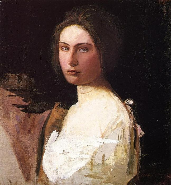 Study of Alma Wollerman, 1908 by Abbott Handerson Thayer (1849-1921, United States) | Museum Quality Reproductions | WahooArt.com