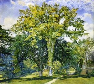 Order Museum Quality Reproductions : Study of Elms, 1866 by Henry Roderick Newman (1833-1918, United States) | WahooArt.com