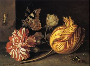 Balthasar Van Der Ast - Study of Flowers and Insects