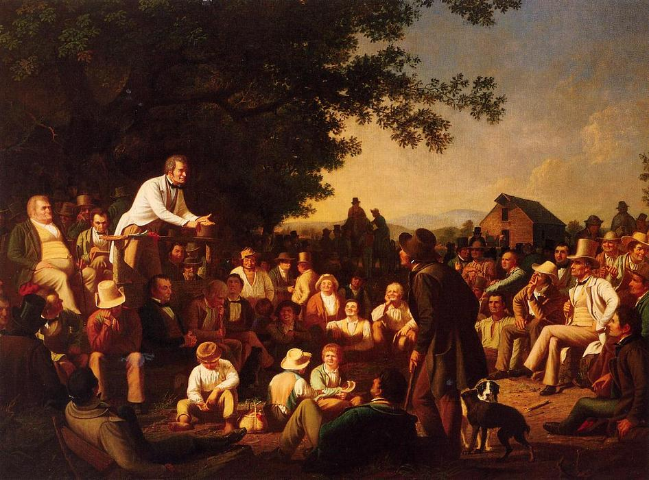 Stump Speaking, 1853 by George Caleb Bingham (1811-1879, United States) | Museum Quality Copies George Caleb Bingham | WahooArt.com