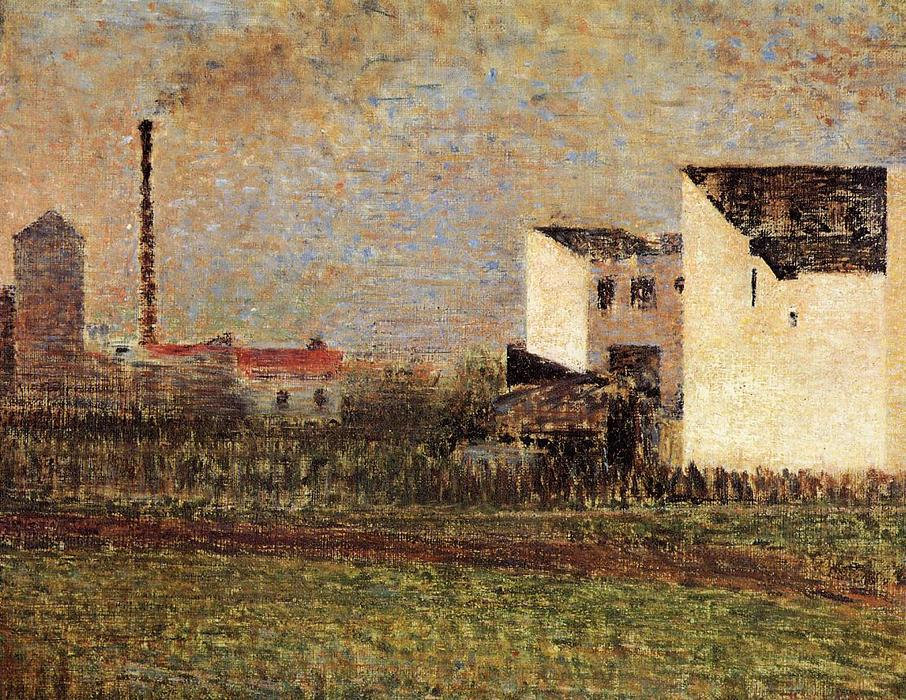 Suburb, Oil On Canvas by Georges Pierre Seurat (1859-1891, France)