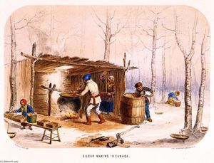 Cornelius David Krieghoff - Sugar Making in Canada
