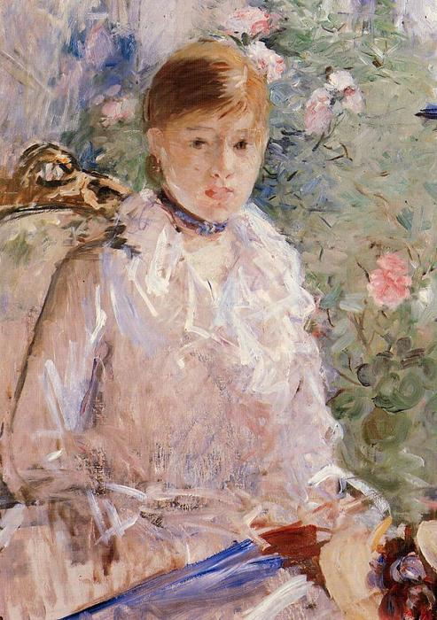 Summer (also known as Young Woman by a Window), 1878 by Berthe Morisot (1841-1895, France) | Art Reproduction | WahooArt.com