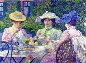 Theo Van Rysselberghe - Summer Afternoon (also known as Apres-Midi d'ete)