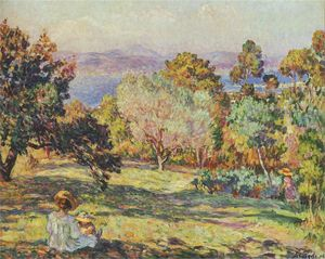 Henri Lebasque - Summer Afternoon at Frejus