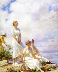 Charles Courtney Curran - Summer Clouds
