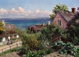 Peder Mork Monsted - Summer day in Aalsgaarde