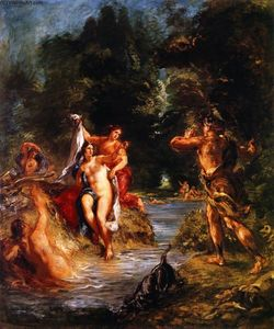 Eugène Delacroix - Summer - Diana and Actaeon