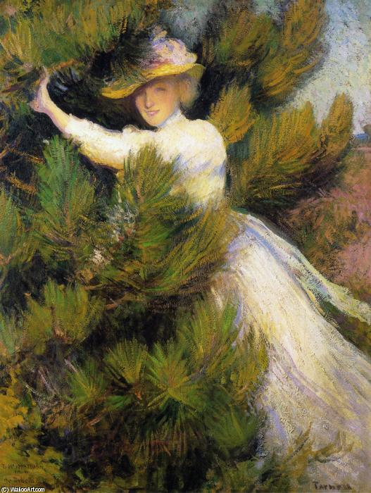 Order Museum Quality Reproductions : Summer Idyll (also known as Girl and Pine Trees), 1899 by Edmund Charles Tarbell (1862-1938, United States) | WahooArt.com