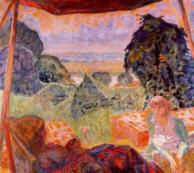 Summer in Normandy, 1912 by Pierre Bonnard (1867-1947, France) | Art Reproductions Pierre Bonnard | WahooArt.com
