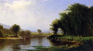 Alfred Thompson Bricher - Summer on the Saco