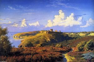Peder Mork Monsted - Summer-s Day Opposite Hammeren, Bornholm