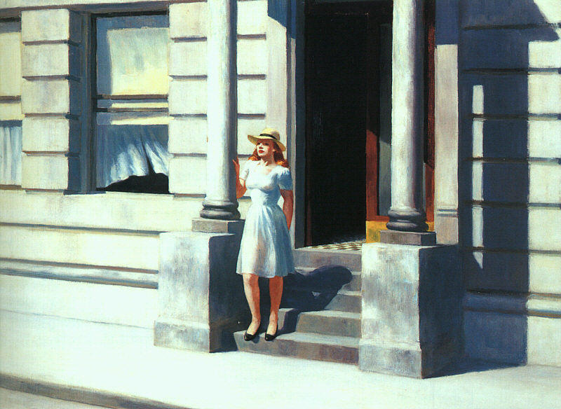 Summertime, Oil On Canvas by Edward Hopper (1882-1967, United States)