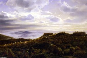 Joachim Ferdinand Richardt - Summit of Mount Washington in the White Mountains