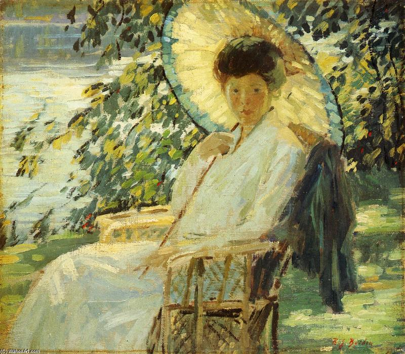 Sunlight and Shadow, Oil On Canvas by Rae Sloan Bredin (1880-1933, United States)