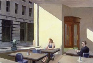 Edward Hopper - Sunlight in a Cafeteria - (Famous paintings)