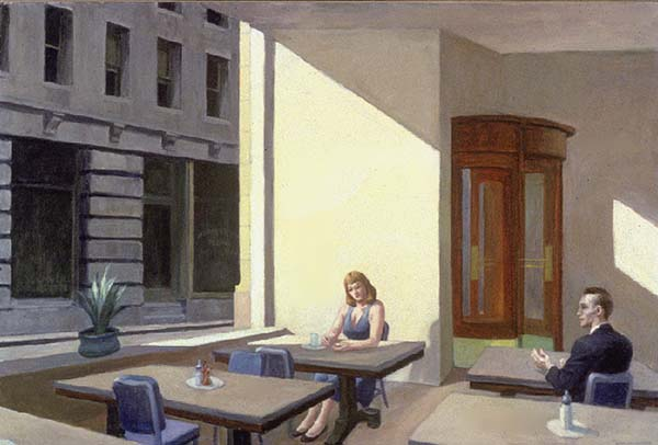 Sunlight in a Cafeteria, Oil On Canvas by Edward Hopper (1931-1967, United States)